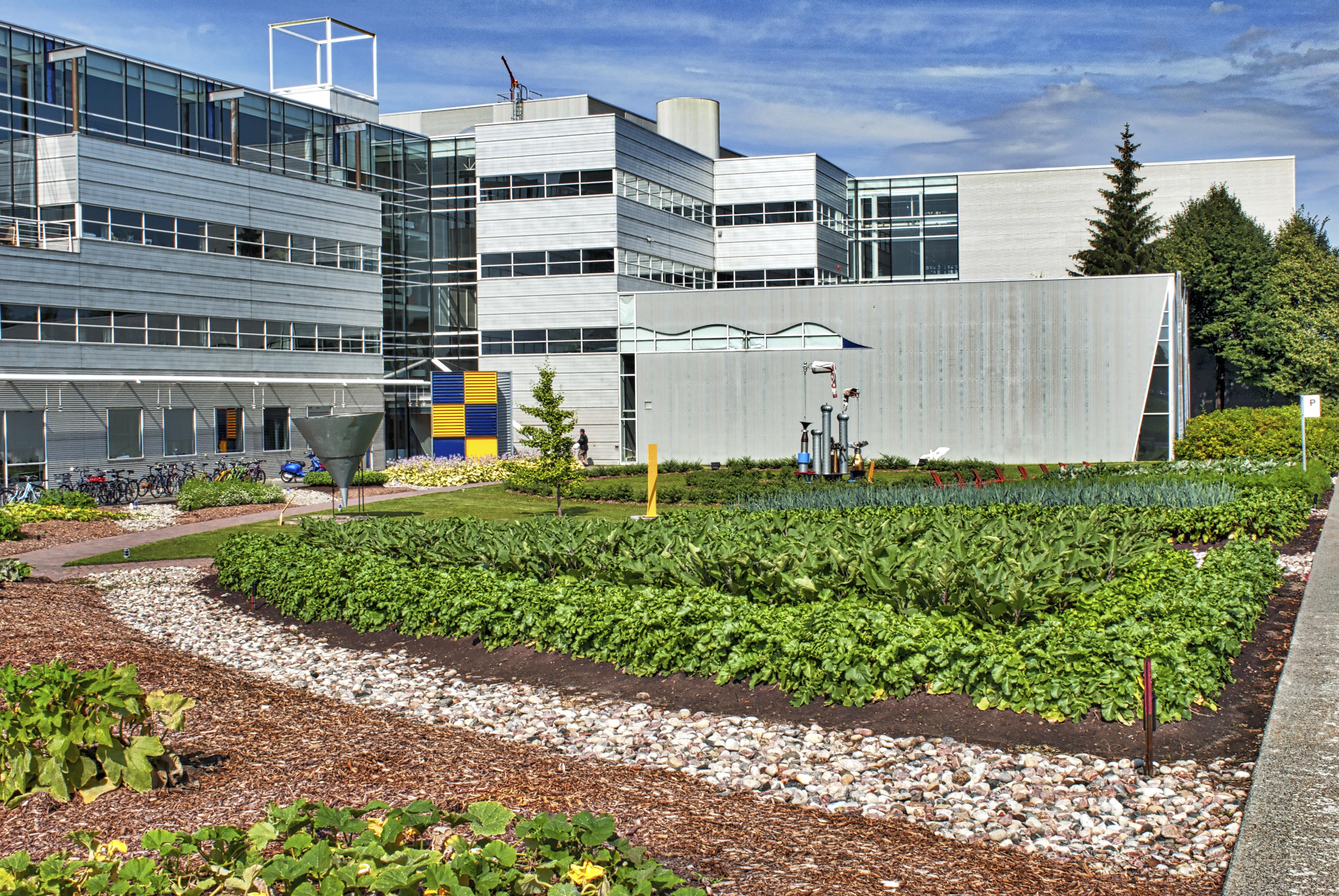 Mêm les entreprises, comme ici le Cirque du Soleil, font de l'agriculture urbaine au profit de leurs employés.